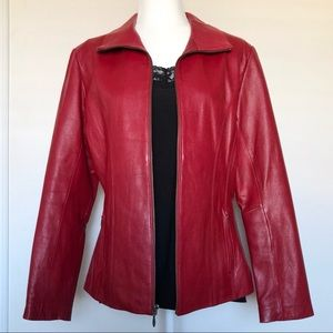 Wilson's Leather Red Leather Jacket